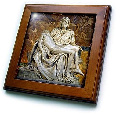 3dRose ft_82096_1 Italy Rome Vatican St Peters Basilica Pieta Cindy Miller Hopkins Framed Artwork