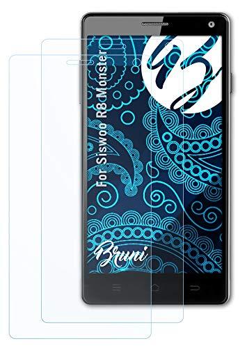 Bruni Schutzfolie kompatibel mit Siswoo R8 Monster Folie, glasklare Bildschirmschutzfolie (2X)