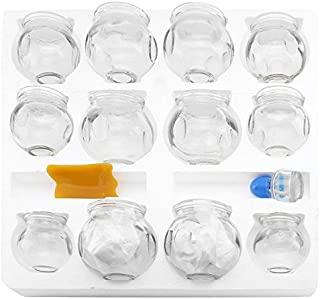 12 pcs Thick Glass Cupping Set for Professionals (2 Cups #5 ~2.87