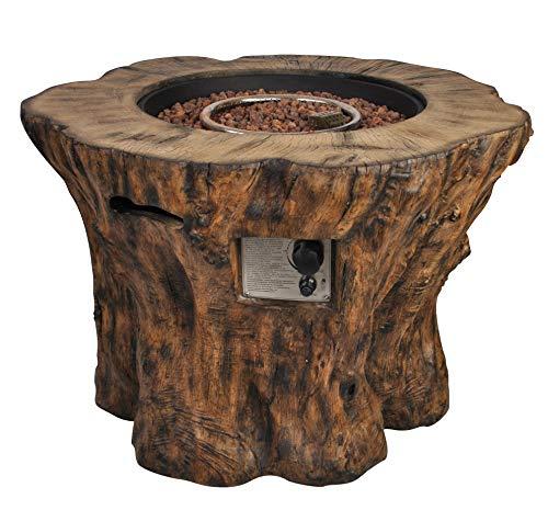 Clifton Gaskamin Wood Trunk Gartenkamin Terrassenkamin Außenkamin
