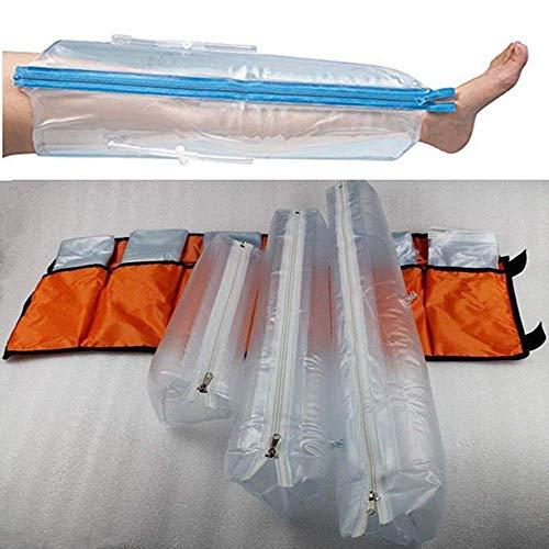JAYE Aufblasbare Kunststoffschiene, Erste-Hilfe-Luftschienen-Kits, 6er-Set, mit Hand/Handgelenk, Ellbogen/Halbarm, Vollarm, Fuß/Knöchel, Halbbein, Vollbein