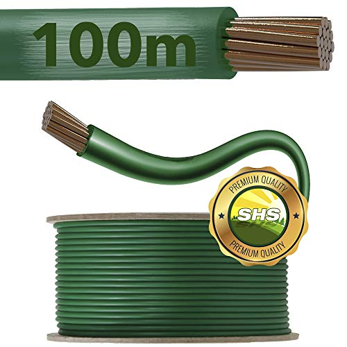 100m - SHS Universal Begrenzungskabel Begrenzungsdraht Kabel für Mähroboter Suchkabel Rasenroboter kompartibel mit GARDENA/BOSCH/HUSQVARNA/WORX/HONDA/ROBOMOW/iMow/KÄRCHER uvm.