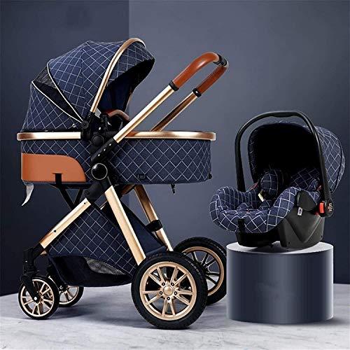 Cochecito de cochecito de lujo de cochecito Agregue el soporte de la taza y la bandeja del cochecito, la canasta de almacenamiento extra grande, la bolsa de la mamá, la cubierta de la lluvia, el coche