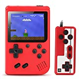 Aibrisk Handheld Game Console, Retro Mini Game Player with 520 Classical Games, Connecting TV, Two Players, 3 Inch Screen 800mAh Rechargeable Battery, Birthday Xmas Gift for Kids (Red)