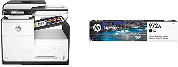HP PageWide Pro 477dw Color Multifunction Business Printer with Wireless & Duplex Printing (D3Q20A) with Standard Yield Bl...