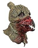 Horror-Shop Blutige Krähe in Vogelscheuche Maske für Halloween