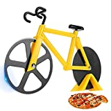 SCHVUBENR Bicycle Pizza Cutter Wheel - Funny Gifts for Cyclists Men - Bike Pizza Cutter - Cute...