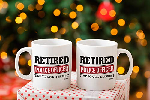 Product Image 8: Retired Police Officer Gifts Mug Funny Christmas Retiring Retirement Gag Gifts for Women Men Dad Mom Retirement Coffee Mug Gift. Retired Mugs for Coworkers Office & Family. Unique Ideas for Her & Him