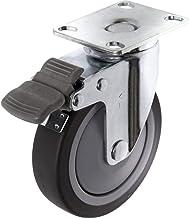 TOOLCRAFT TO-5137920 Zwenkwiel TPR met rem 100 mm met schroefplaat