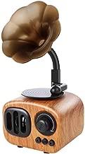 LittleBeauty Retro Speaker Style Bluetooth Speaker Wireless Stereo Subwoofer Music Box Wooden Speaker with Microphone Radio (Color : Light Wood Grain)