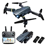 Drones with Camera for Adults, FCONEGY E58 Foldable RC Quadcopter Drone with 1080P HD Camera for Beginners,WiFi FPV Live Video, Altitude Hold, Headless Mode, One Key Take Off/Landing