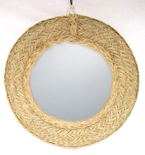 Sillas y Mesas Peña Espejo Circular Hecho de Forma Artesanal con Esparto 45cm