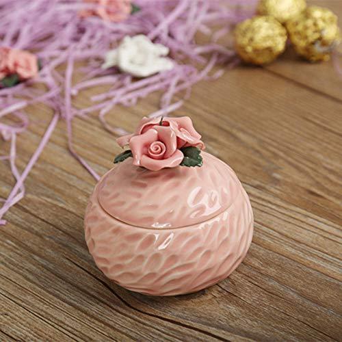 Opslag Potten luchtdicht 6 Kleuren Keramische Sieraden Doos Oorbel Oorbel Ketting Accessoires Opbergdoos Keramische Suiker Kan 4