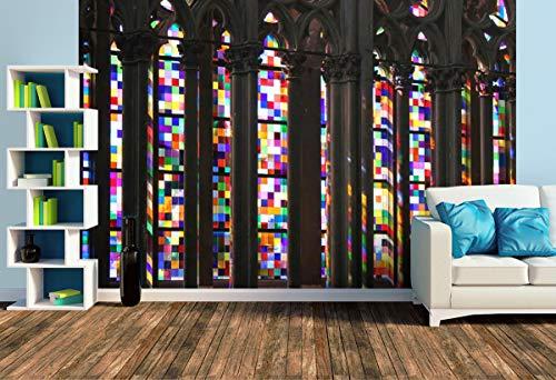 Premium Foto-Tapete Richter-Fenster im Kölner Dom (versch. Größen) (Size L   372 x 248 cm) Design-Tapete, Wand-Tapete, Wand-Dekoration, Photo-Tapete, Markenqualität von ERFURT