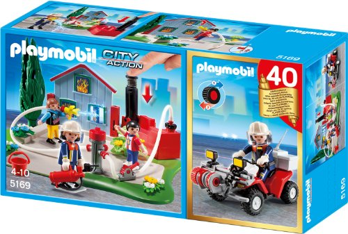 Playmobil 5169 - Jubiläums-Kompakt Set Feuerwehreinsatz mit Quad