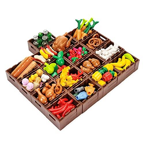 SENG Custom Essen Bausteine Set Rollenspiele Spielzeug für Kinder Kompatibel mit Lego Minifiguren
