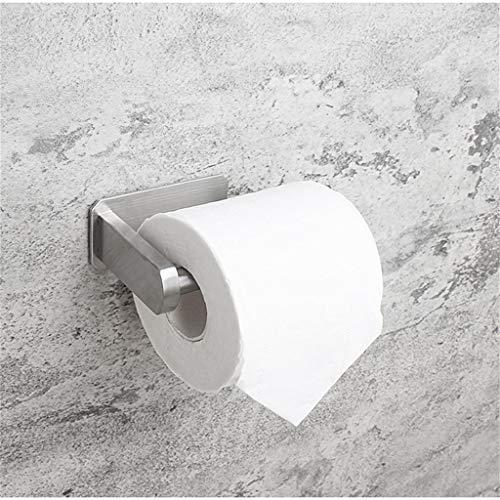 Portarrollos de papel higiénico, sin taladrar, de acero inoxidable, soporte para rollos de papel higiénico, soporte de pared para papel higiénico para cocina y baño