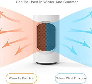 wolfjuvenile Calefactor Ceramico Bajo Consumo,Calefactor CeráMico BañO,Calentador de Ventilador PTC de 3 Modos con ProteccióN contra Sobrecalentamiento y Volcado para el Hogar y la Oficina (600 W)