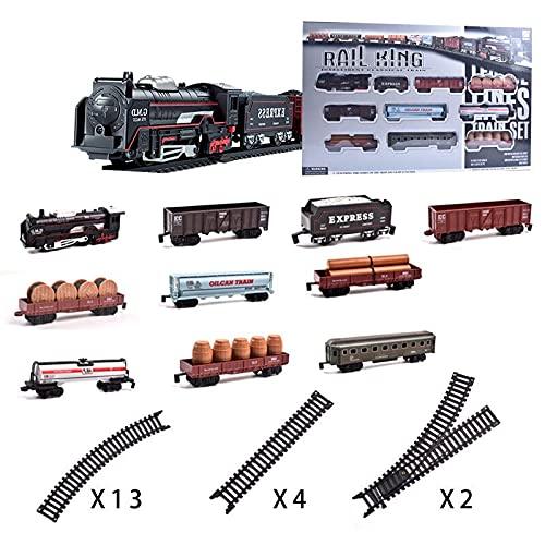 Trenes de juguete eléctricos clásicos de vapor para niños, camión para niños,...