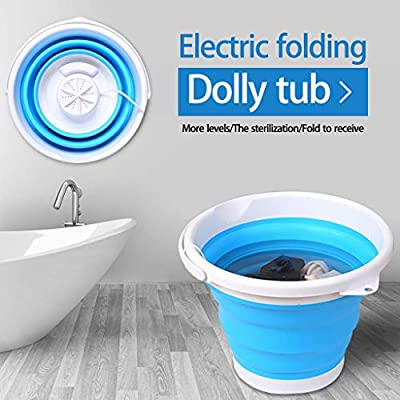 10L Portable Mini Turbo Washing Machine with Foldable Tub Compact Ultrasonic Turbine Washer 2 in1 USB Electric Powered Laundry Washer for Travel, Camping, Apartments, Dorms