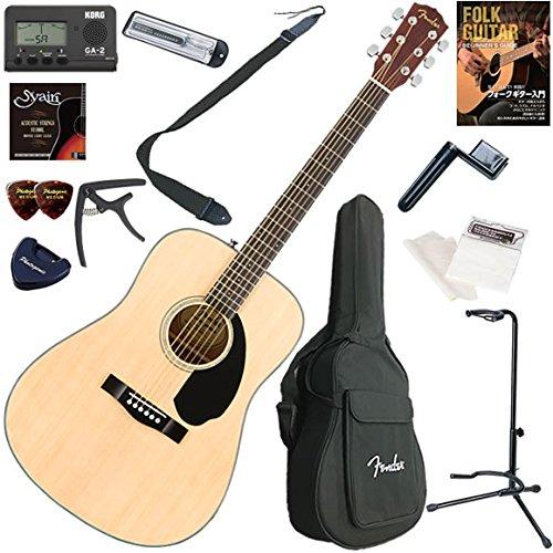 FENDER アコースティックギター 初心者 入門 ドレッドノートタイプ お手軽13点セット CD-60S/NAT(ナチュラル)