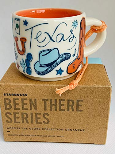 Starbucks TEXAS BEEN THERE SERIES ACROSS THE GLOBE COLLECTION ORNAMENT Ceramic Coffee Demitasse Mug, 2 Fl Oz