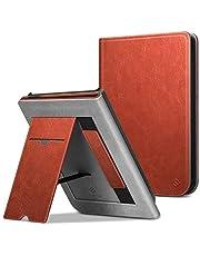 FINTIE Etui stojące do Pocketbook Touch HD 3/Touch Lux 4/Basic Lux 2 E-Reader - Premium skóra PU ochronny pokrowiec z przegródką na karty, paskiem na rękę i funkcją automatycznego uśpienia/czuwania, siodełko brązowe