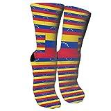 Bosbweo El equipo de la bandera de Venezuela calza los calcetines elegantes de la novedad adecuados para correr deportes que van de excursión