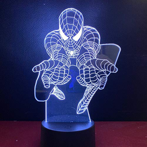 Sanzangtang Led-nachtlampje, 3D-vision-zeven, kleuren-afstandsbediening, nachtlampje, anime-lampje, schattig cadeau voor op batterijen, verjaardagsdecoratie, nachtlampje, werkt op batterijen