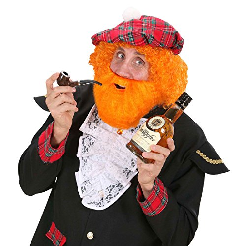 Amakando Barbe Rouge écossais Barbe Viking Roux Marron Barbare Marin Accessoire déguisement Nain