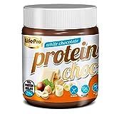 Life Pro Fit Food Protein Cream White Chocolate   21% Proteina   Crema Proteica Sabor Chocolate Blanco   Facil de untar   Sin azucares añadidos   Sin conservantes artificiales