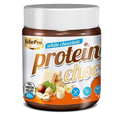 Life Pro Fit Food Protein Cream White Chocolate | 21% Proteina | Crema Proteica Sabor Chocolate Blanco | Facil de untar | Sin azucares añadidos | Sin conservantes artificiales
