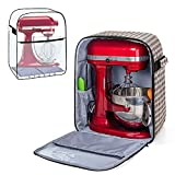 Yarwo Stand Mixer Cover with Bottom for 4.5 qt and All 5 qt KitchenAid Mixer, Visible Mixer Storage Bag with...