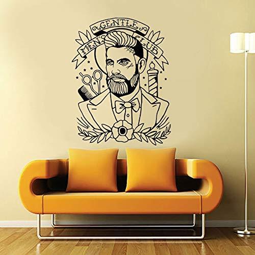 Kapper Hipster Art Muursticker Sticker Sticker GLENTLE Man Club Behang Raam Muurschildering Waterdicht 44 * 57cm