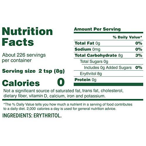 Whole Earth Sweetener Co. Zero Calorie PlantBased Sugar Alternative, 100% Erythritol, 64 Ounce