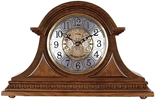 WJIEH Mantel Clocks Wood Mantle Clock with Westminster Chime Solid Wood Decorative Table Clock product image