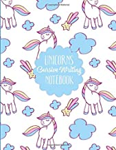 Unicorns Cursive Writing Notebook: 100 Blank Lined Pages Formatted for Cursive Writing Practice