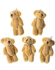 AniYY 5 st Kawaii små björnar plysch mjuka leksaker pärlor sammet dockor gåvor mini björn
