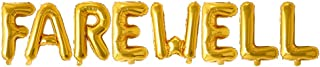 "Rozi Decoration Foil Toy Balloon 16"" Inch Letter Gold Farewell Alphabets Decoration"