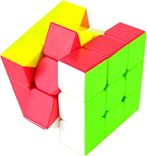 RONSHIN Rubik Colorful Speed Magic Cube Puzzle Finger Toy 5.7x5.7x5.7cm Random Color