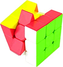 OUYAWEI Rubik Toy Colorful Speed Magic Cube Puzzle Finger Toy 5.7x5.7x5.7cm Random Color