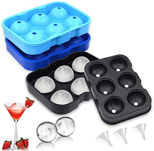 3 Packungen eiswürfelbehälter mit deckel, Silikon Eiswürfelform mit Deckel, LFGB Zertifiziert BPA frei Silikon EIS Cube Formen Babynahrung, Wein, Eiswürfel für Bier Cocktails Whisky