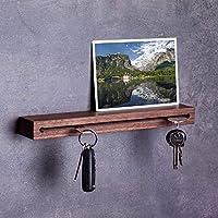 Woods Schlüsselbrett Holz mit Ablage I Nut - Schlüsselhalter modern I Wanddekoration aus Holzhandgefertigt in Bayern I...