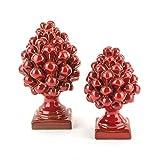 Zoom IMG-1 pigna rossa decorativa h cm