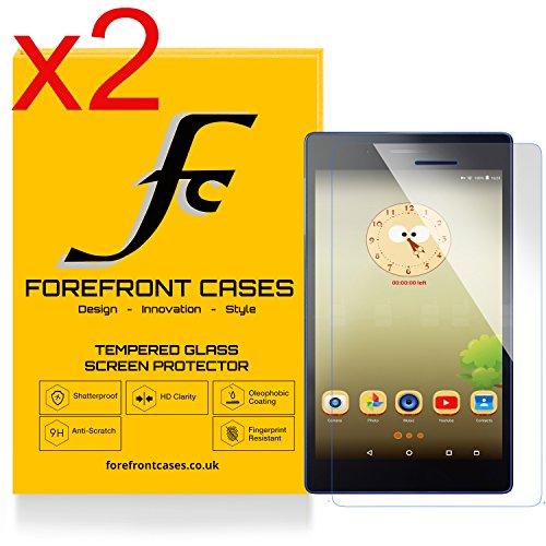 Forefront Hülles [HD KLARHEIT] Gehärtetes Glas Display Schutz Protektor Folie für Lenovo TAB3 7 Essential 17,78 cm (7 Zoll IPS) Tablet [Ultra DÜNN nur 0.3mm] (Packung mit 2)