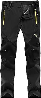 ZOEREA Hombre Pantalones de Trekking Impermeable Invierno
