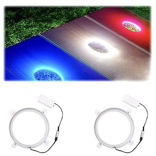 Cornhole Board Lights 3 Colors Changable Cornhole Lights for Hole and...