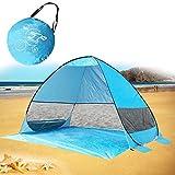 MG MULGORE Pop Up Beach Tent Sun Shelter Outdoor Ligero Plegable Anti UV Portable Cabana Familiar para 3 o 4 Personas