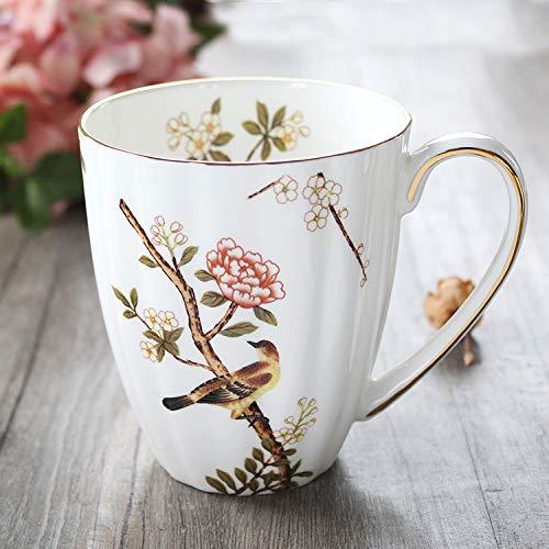 Hueso De Moda China Rústico Vintage Té De La Tarde Porcelana, Novedad Chocolate Personalizado Café, Mejor Regalo