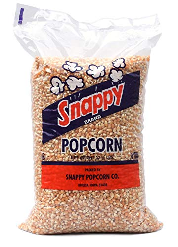 Cheapest Prices! Snappy Yellow Popcorn Kernels, 12.5 Pounds